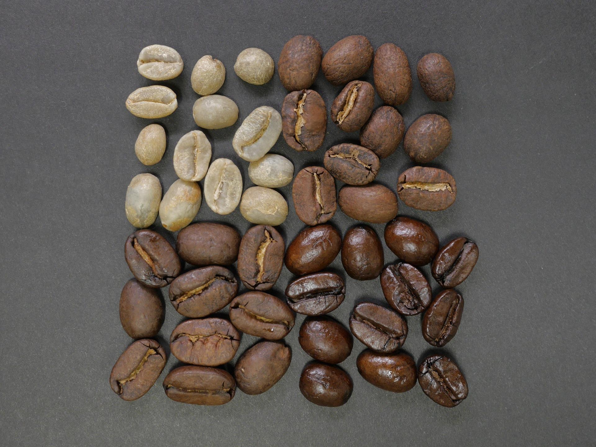 úroveň praženia kávy
